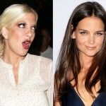 "I smell a cat fight!  Tori Spelling calls Katie Holmes ""plastic"" in her new memoir, Spelling It Like It Is.  #SoJO1049 #KatieHolmes #ToriSpelling #SpellingItLikeItIs"
