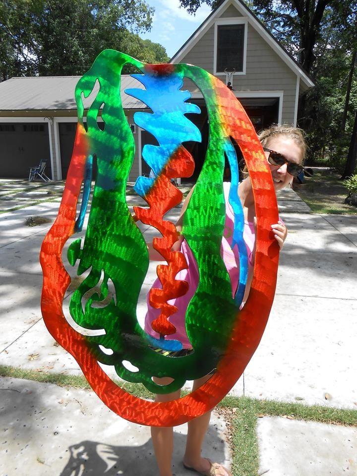 Metal Art, Backyard, Patio, Metal Yard Art, Tuin, Backyards