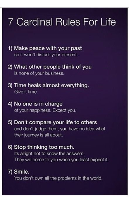 seven cardinal rules for life - Google Search