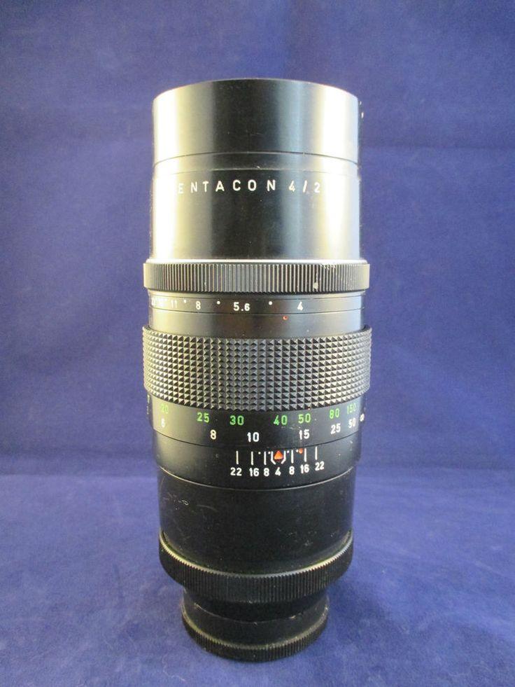 Pentacon 4/200 M42 Manual Multibladed SLR Camera Lens