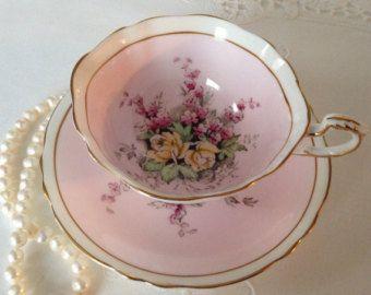 Pink Paragon China Tea Cup and Saucer Teacup Set