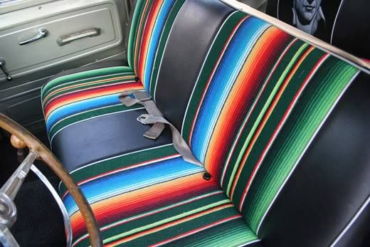 A Time To Get Mexi Can For Andrew Amp Blair Truck Interior Mexican Blanket Seat Cover