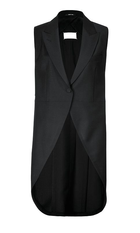 Maison Martin Margiela   mohair wool vest with back ties