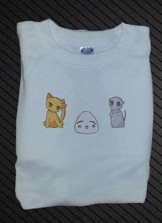 Custom Fanmade Fruits Basket Tohru Yuki Kyo Riceball T-Shirt Tee Tshirt