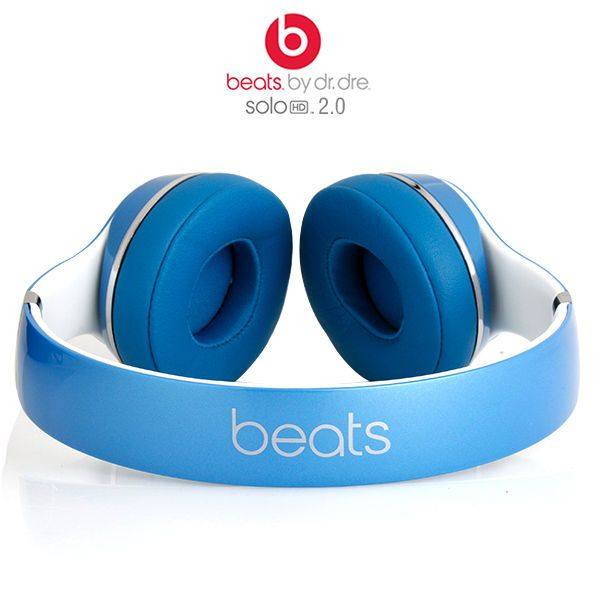Image result for solo hd 2.0 dr. dre beats wired light blue on ear headphones images