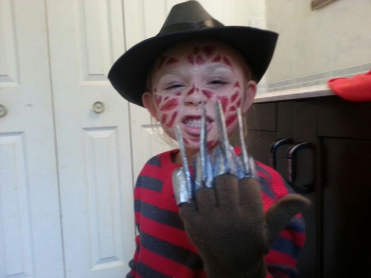 Homemade freddy krueger kids costume