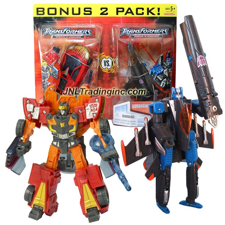 """Hasbro Transformers Universe Series 2 Pack Deluxe Class 6"""" Tall Figure Set - OPPOSITE ATTACK with Autobot EXCELLION and Deрщз Гпупь cepticon THUNDERCRACKER"""