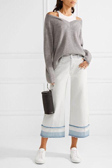 J Brand - Liza Cropped Mid-rise Wide-leg Jeans - Light denim -