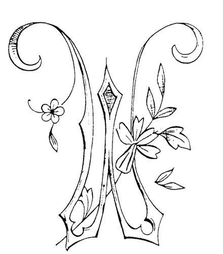 Lettre W - Broderie d'Antan