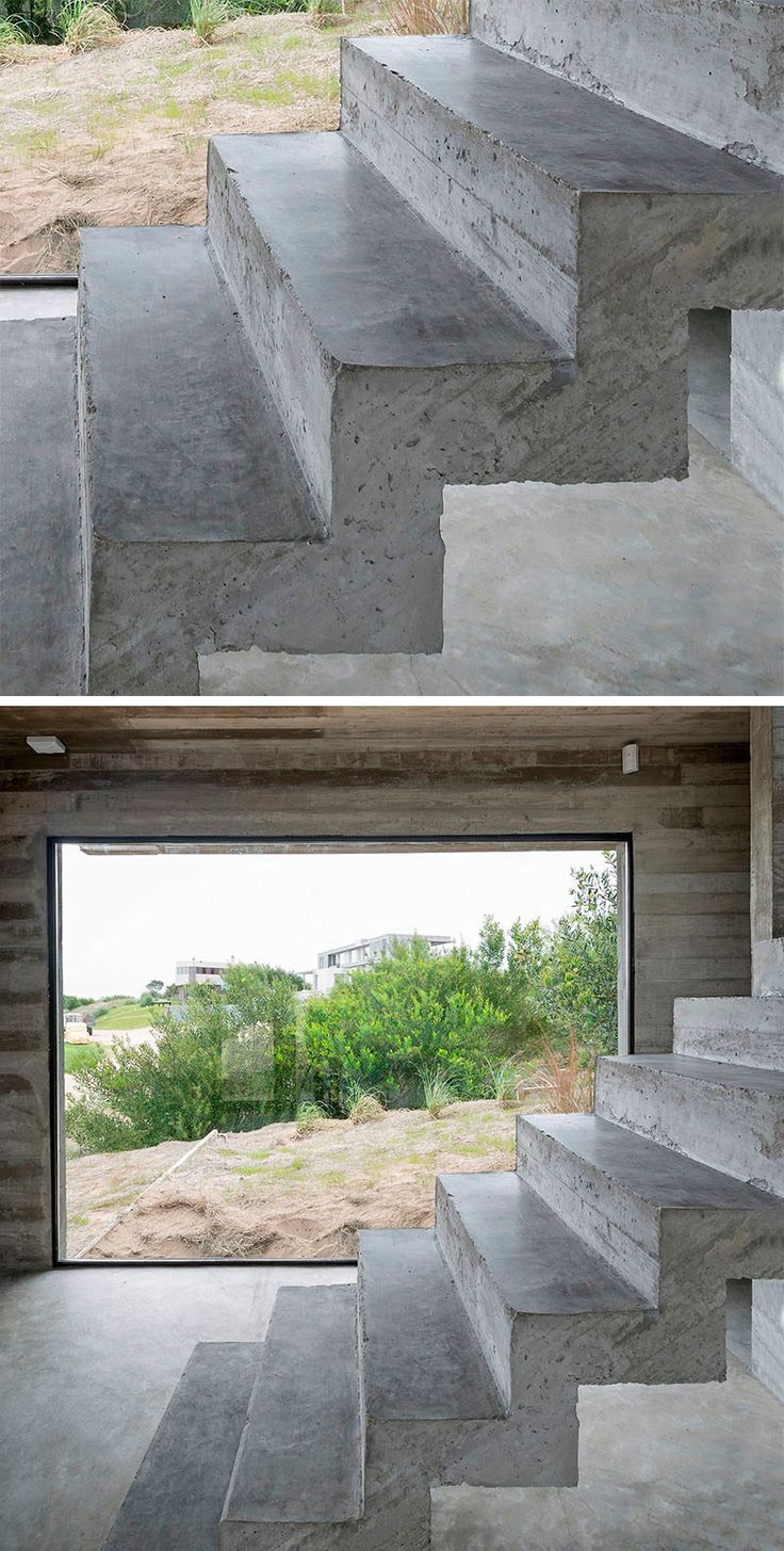 18 Examples Of Stair Details To Inspire You // These stairs are made entirely out of formed concrete.