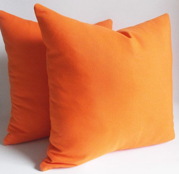 set 2orange pillow x decorative pillow