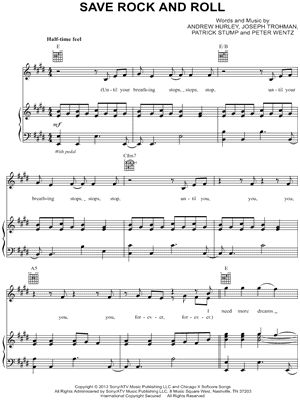 """Image of Fall Out Boy """"Save Rock and Roll"""" Sheet Music - Download &amp"""