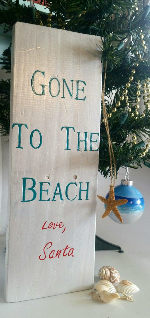 Check out this item in my Etsy shop https://www.etsy.com/listing/255583495/gone-to-the-beach-love-santa-beach