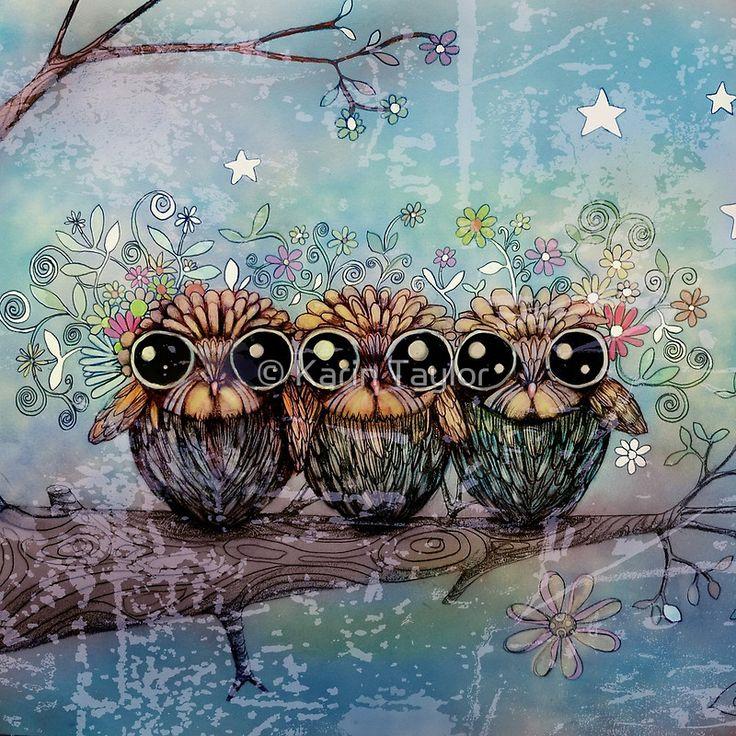 three little night owls