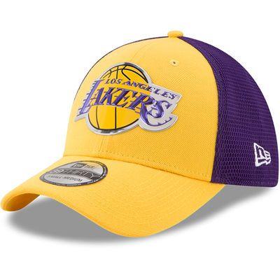 Men's Los Angeles Lakers New Era Gold/Purple On-Court 39THIRTY Flex Hat