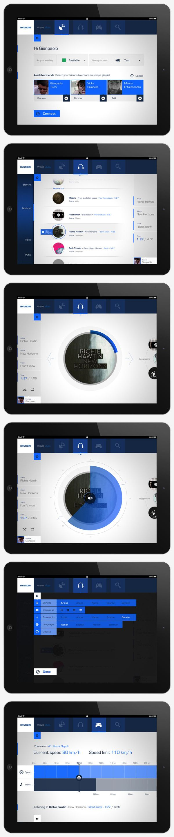 iPad application by Gianpaolo Tucci, via Behance #UI