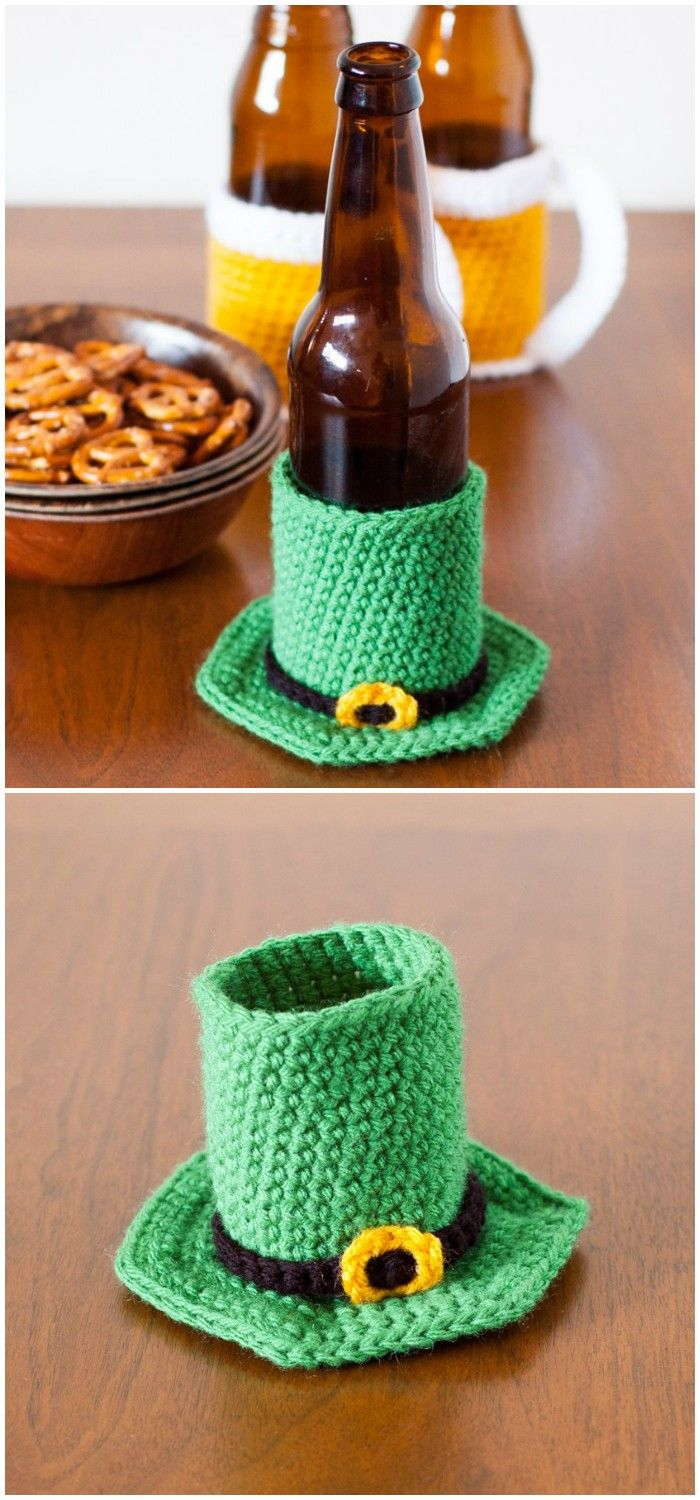I have rounded up some of the best and gorgeous #crochet #patterns for your inspiration.Leprechaun Hat Beer Cozy