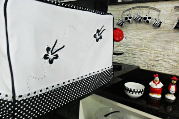 CAPA PARA MICRO-ONDAS OU FORNINHO   **Confeccionada em tecido oxford, tricoline nas: Capas Micro, Cover For, Made Of, Fabric