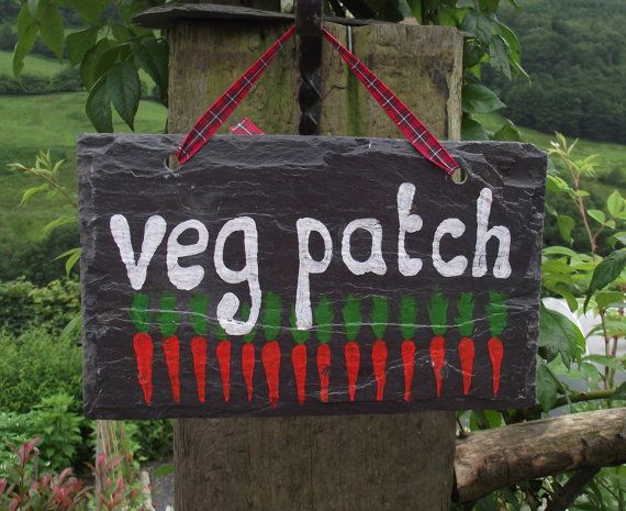 sign from recycled slate roof tile