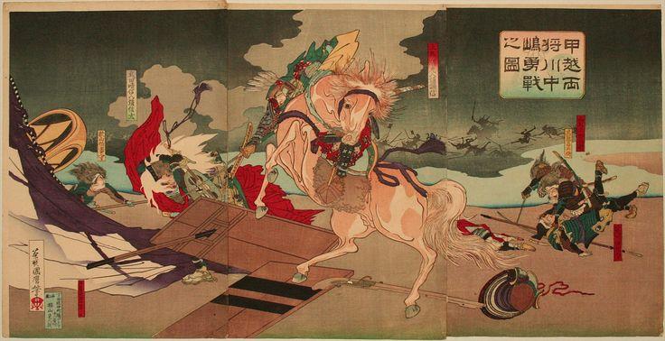 歌川国麿 1885_甲越両将川中嶋勇戦之図 http://www.bestweb-link.net/PD-Museum-of-Art/ukiyoe/ukiyoe/toyokuni/No.046.jpg