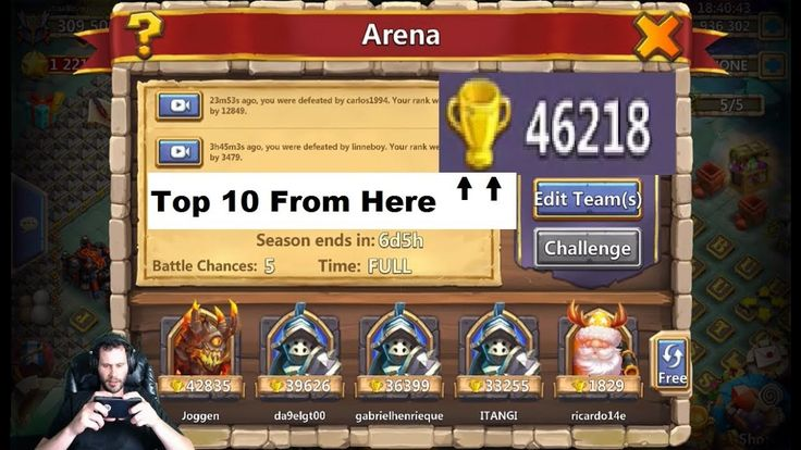 The New update has made arena crazy.. Enjoy source   https://www.crazytech.eu.org/climbing-from-rank-50000-to-top-10-arena-lol-castle-clash/