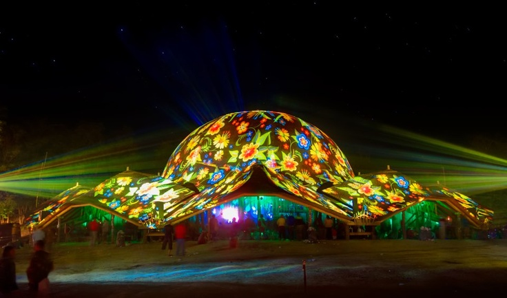 Ozora festival 2012 Dom projection by Night Projection  #ozora #ozorafestival #ozorafestival2012 #nightprojection #raypainting #visual