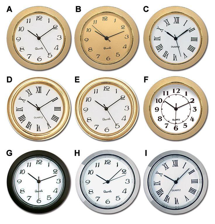 1-7/16-Inch Mini Quartz Clock Inserts