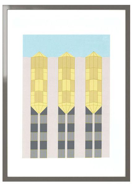 """Tropicana"" by Rebecca Telford #architecture #pattern #cogohouse"