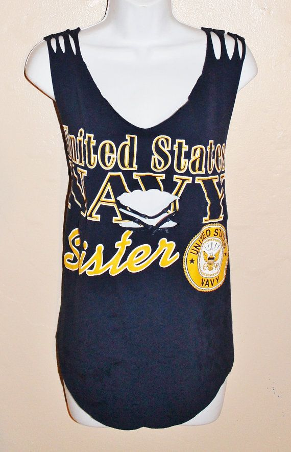 United States NAVY sister  t shirt with specialty by Forever peace