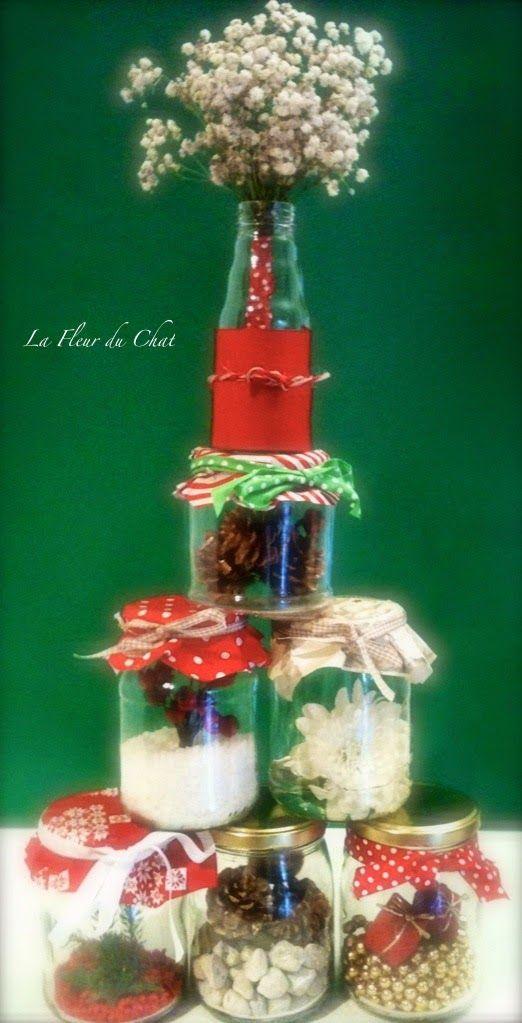 La fleur du chat: Albero di Natale floreale e vetro riciclato!