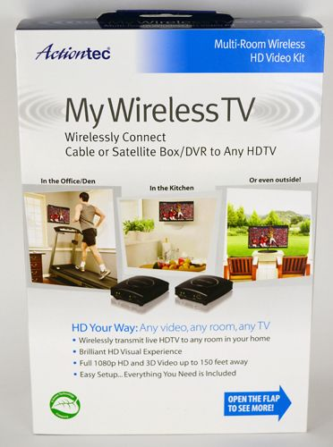 tv above fireplace where to put cable box   Actiontec MyWirelessTV Multi-Room Wireless HD Video Kit Review