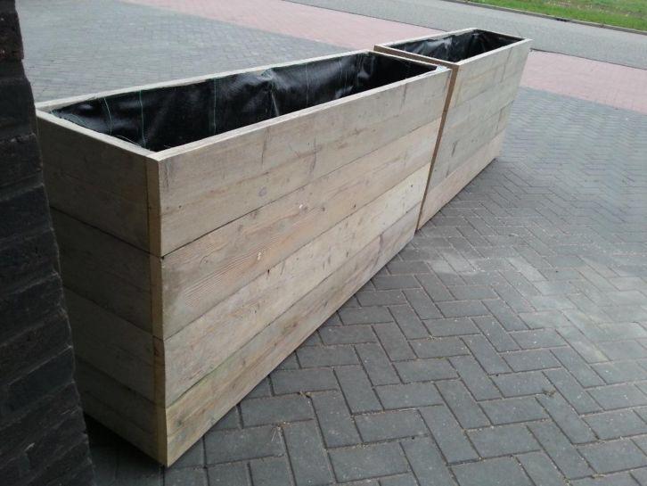 Steigerhouten plantenbak bloembak steigerhout PRIJS VERLAAGD: http://link.marktplaats.nl/854881794