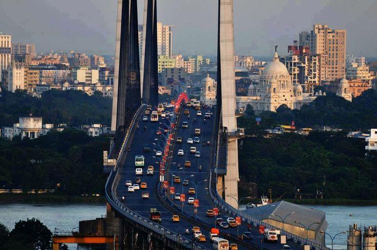 Vidyasagar Bridge on River Hooghly, Kolkata, Incredible India