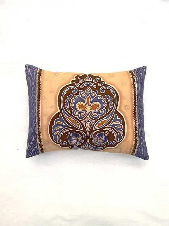 Lavender colored hand dyed batik pillow by BataviaDesign on Etsy