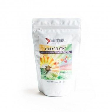 #Bulletproof® CollaGelatin™ is a synergistic powdered #protein blend of #collagen and #gelatin. Sourced from pasture-raised cows. Supports rapid repair of tissues and bones. Helps support joint mobility. Hydrates skin. Mixes easily in hot liquids. Use to thicken sauces, or make gummy vitamins. #BulletproofLife #ButterCoffee
