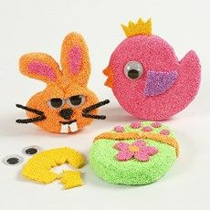 Foam clay on Easter shapes