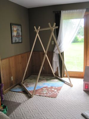 structure en bois à faire pour tente d'enfants