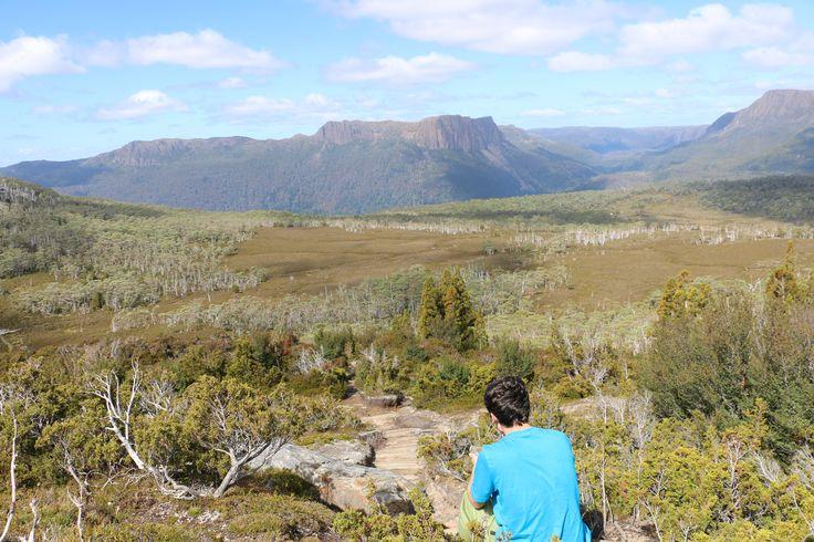 Anthony (16) taking a break on the overland track Tasmania 2015