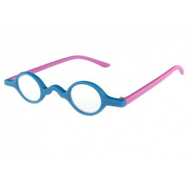 6cbf8bc436 Petites lunettes loupe rondes bleues et violette style original et intello  modèle Mozer, lunettes de