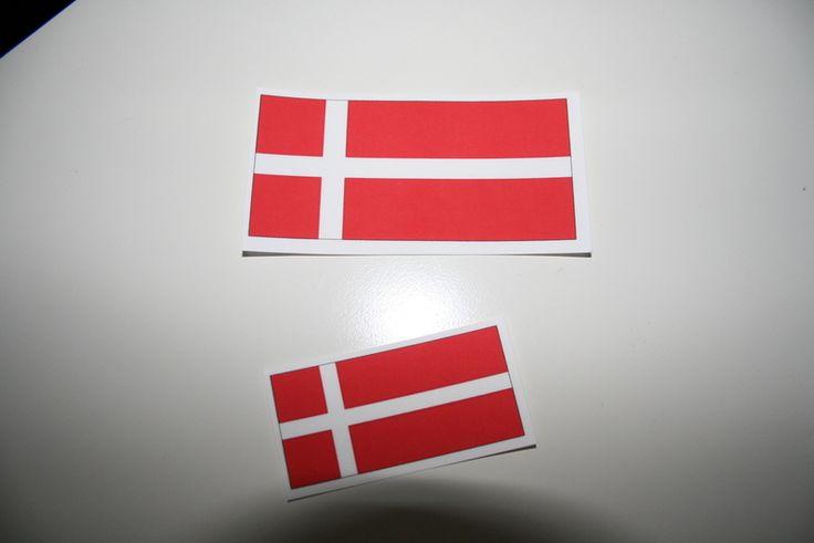 Bügelbild dannebrog dänische Flagge rot weiß dansk von Lille Danmark auf DaWanda.com