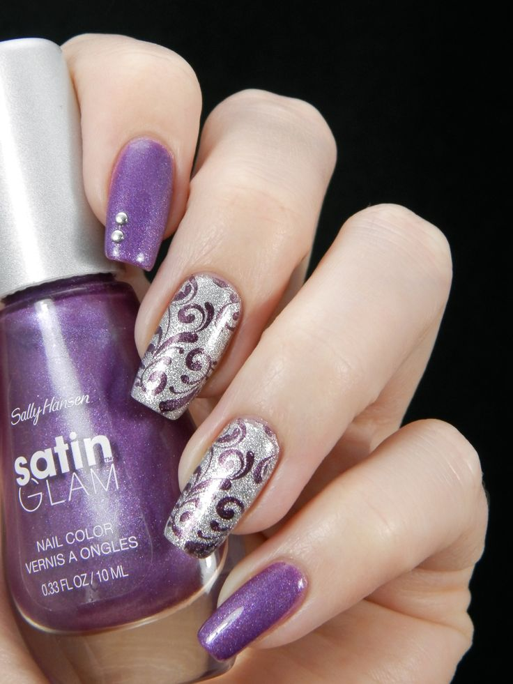 Simple Purple Nail Design : Ideas about silver nail art on white and nails blue