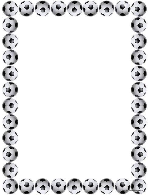 Bordes Decorativos: Bordes decorativos de hojas de Fútbol para imprimi...