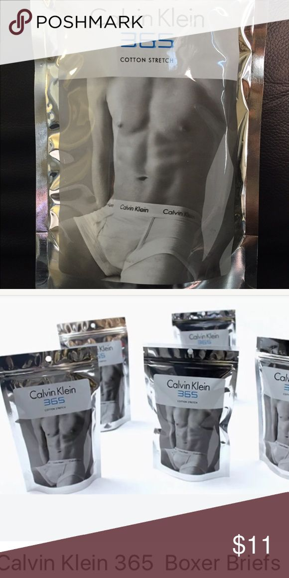 Calvin Klein 365 Boxer Briefs Black Small Cotton blend boxer briefs. New without tags. One per sealed package, unopened. Solid black. Calvin Klein Underwear Underwear & Socks Boxer Briefs
