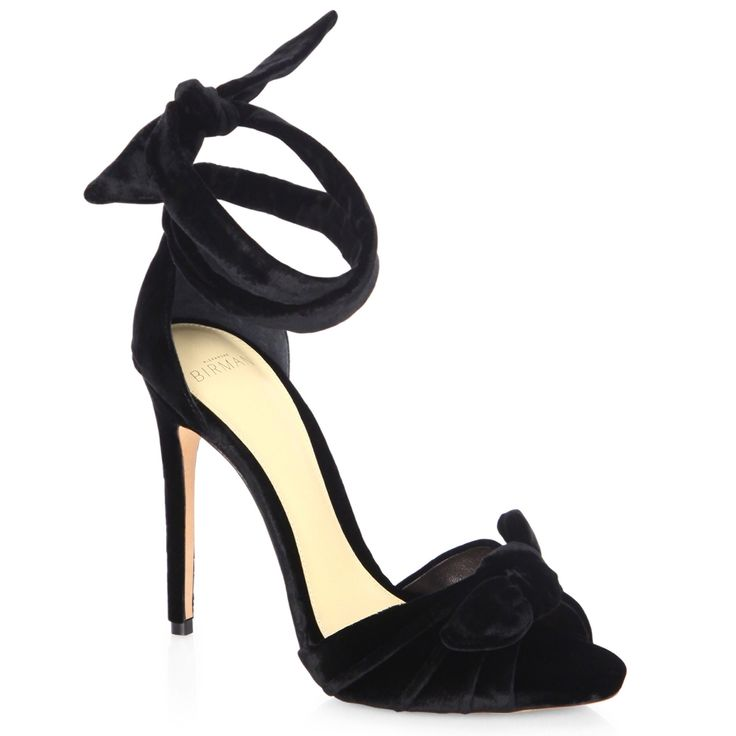 ALEXANDRE BIRMAN Jessica Velvet Ankle Wrap Sandals. #alexandrebirman #shoes #all