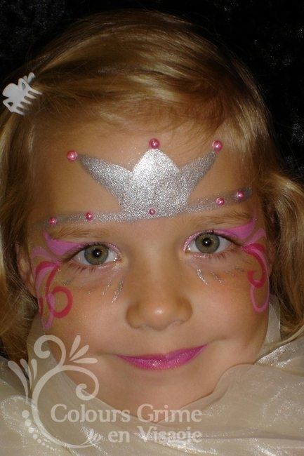 #Princess #facepaint #tiara