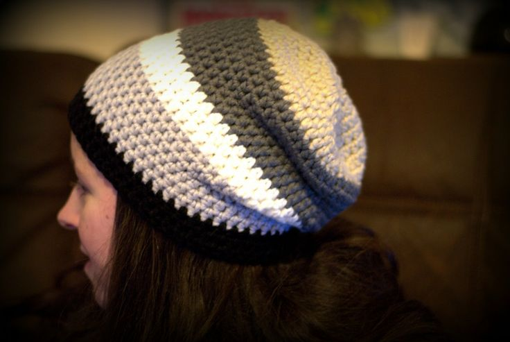 Slouch beanie using myboshi yarn