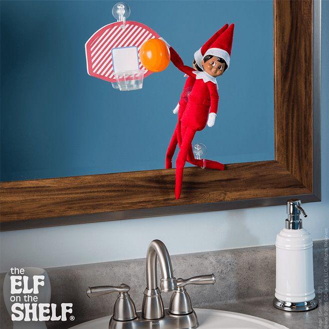 Basketball printable for Christmas elf plus 13 more super cute elf on the shelf printable #elfontheshelf #christmas #printables