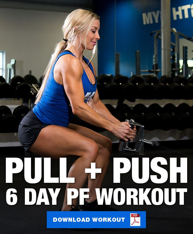 6 Day Push Pull Legs Planet Fitness Workout Planet Fitness Workout Pull Day Workout Planet Fitness Workout Plan