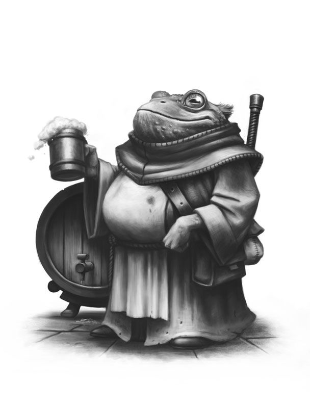 Friar Tuck the Toad - Critter Kingdoms™ Anthropomorphic Animals - Miniature Lines