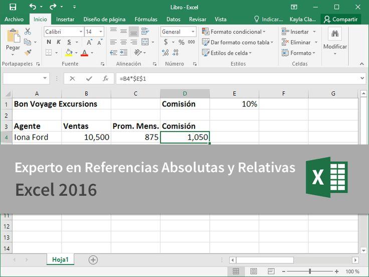Cursos Gratis - Microsoft Excel 2016 - Experto en  Referencias Absolutas y Relativas en 3 Minutos.